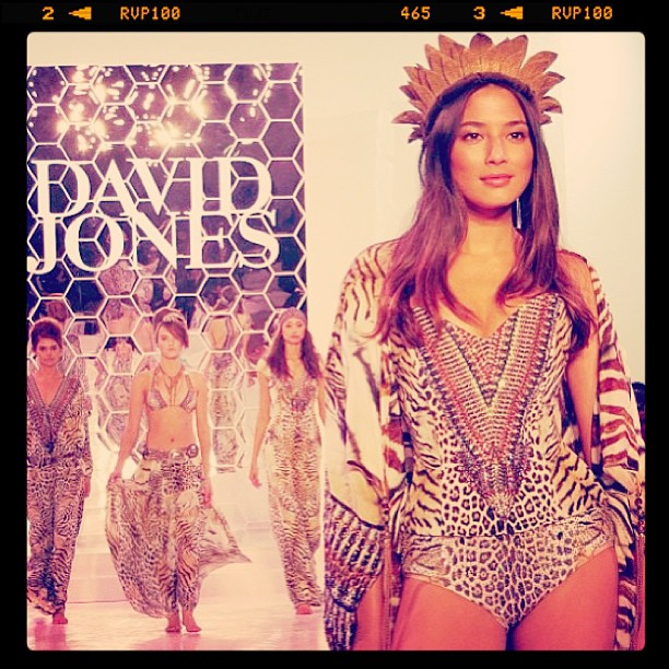 @iamjessicagomes: What an amazing finale it was for @camillawithlove @davidjonesstore #djsfashion what a beautiful ending to the show. emoji