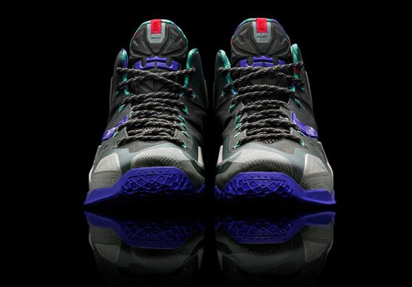 """A front angle of Heat forward LeBron James' latest signature Nike shoe, the """"LeBron 11."""" (Nike)"""