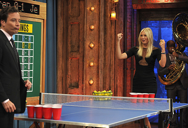 Jimmy Fallon and Maria Sharapova :: Theo Wargo/Getty Images