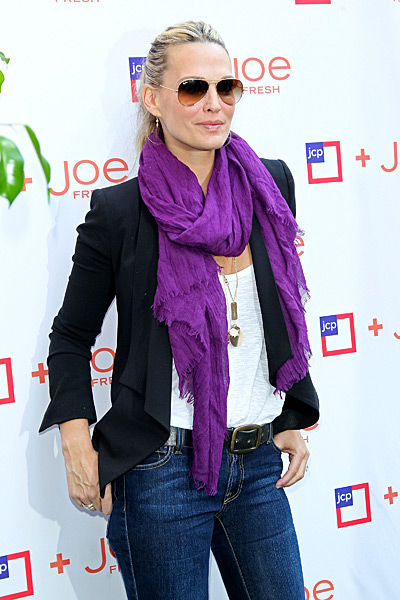 Molly Sims attends the JCPenney Joe Fresh Kids Back-To-School launch :: Steve Mack/Getty Images