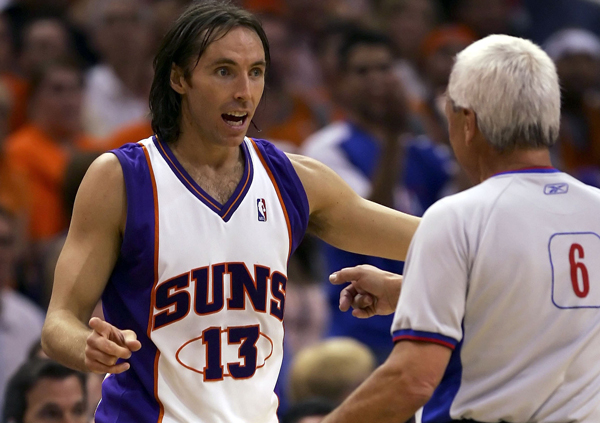 Steve Nash in the Suns' redesigned white jersey in 2006.                                                               (Lisa Blumenfeld/Getty Images)