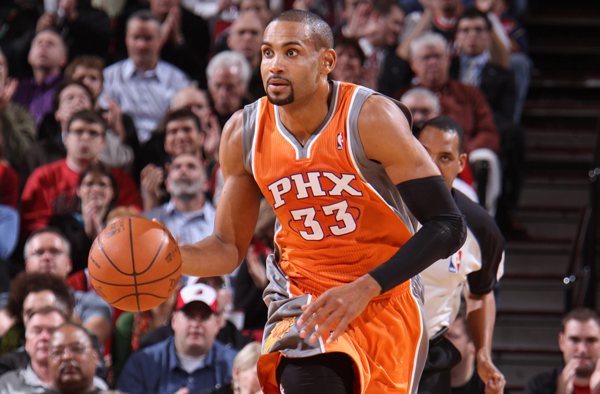 Grant Hill in the Suns' orange jersey in 2010.                                                               (Sam Forencich/Getty Images)