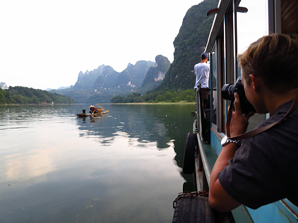 River boat in China down the Li River, 2013 issue