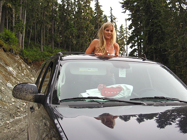 Climbing Whistler Mountain with Hannah Teter, 2010 issue.