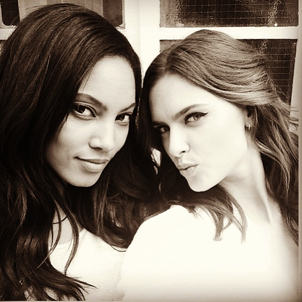 @1arielmeredith: Shooting with one of my favorites!!!! Love you @zuuzg #longtimefriends #londontown