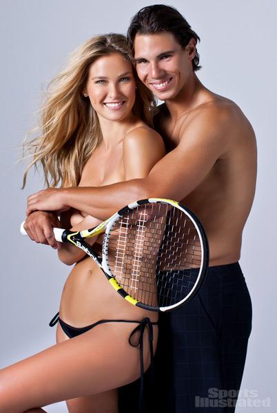 Rafael Nadal and Bar Refaeli :: Walter Iooss Jr./SI (2012)