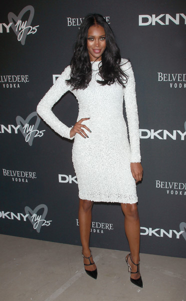 Jessica White attends the #DKNY25 Birthday Bash at 23 Wall Street. (Photo by Jim Spellman/WireImage)