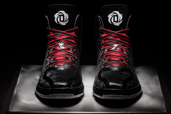 "A front view of the black road colorway of the ""D Rose 4,"" Adidas's latest signature shoe for Bulls guard Derrick Rose. (Adidas)"