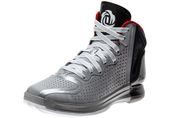 "The gray home colorway of the ""D Rose 4,"" Adidas's latest signature shoe for Bulls guard Derrick Rose. (Adidas)"