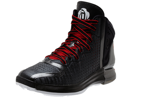 "The black road colorway of the ""D Rose 4,"" Adidas's latest signature shoe for Bulls guard Derrick Rose. (Adidas)"