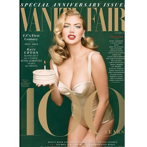 @kateupton: Happy Birthday @vanityfair!! emoji #100thanniversary