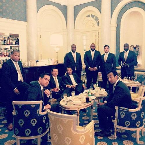 John Legend and his groomsmen.
