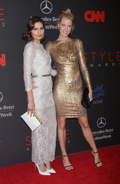Alyssa Miller and Caroline Winberg attend the 2013 Style Awards at Lincoln Center. (Photo by Jim Spellman/WireImage)