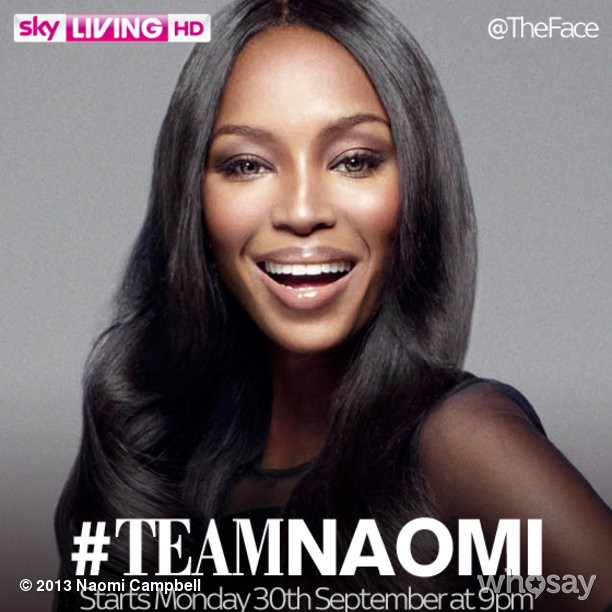 @iamnaomicampbell: I hope you're joining me on #TeamNaomi… #TheFace UK