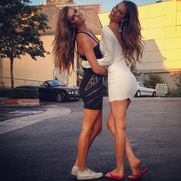 @ninaagdal: My girl @lisallamontenegro thats a wrap @bebe_stores #be9to5 @riadazar9 @lisastoreymakeup