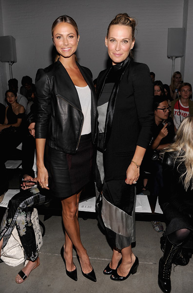 Stacy Keibler and Molly Sims attend the Helmut Lang show.  (Photo by Jamie McCarthy/WireImage)