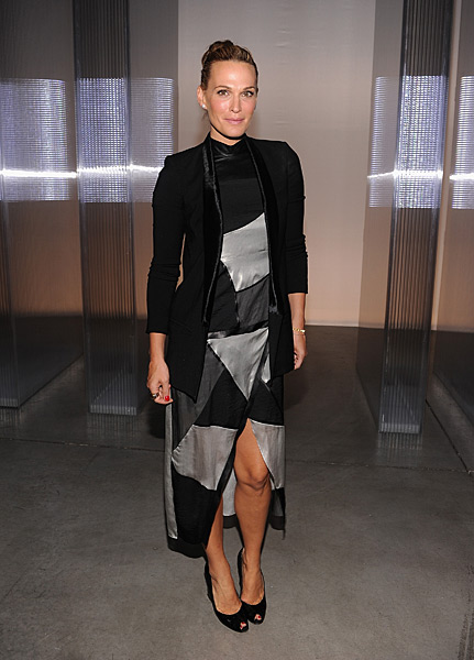 Molly Sims attends the Helmut Lang show during Spring 2014 Mercedes-Benz Fashion Week at 545 West 22nd Street.  (Photo by Jamie McCarthy/WireImage)