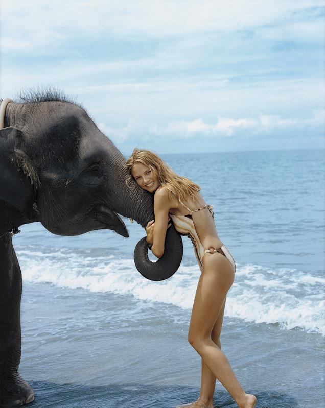 Heidi as friend to all living creatures :: Robert Erdmann/SI