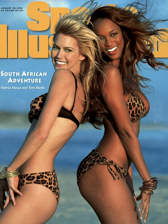 1996 - Valeria Mazza and Tyra Banks