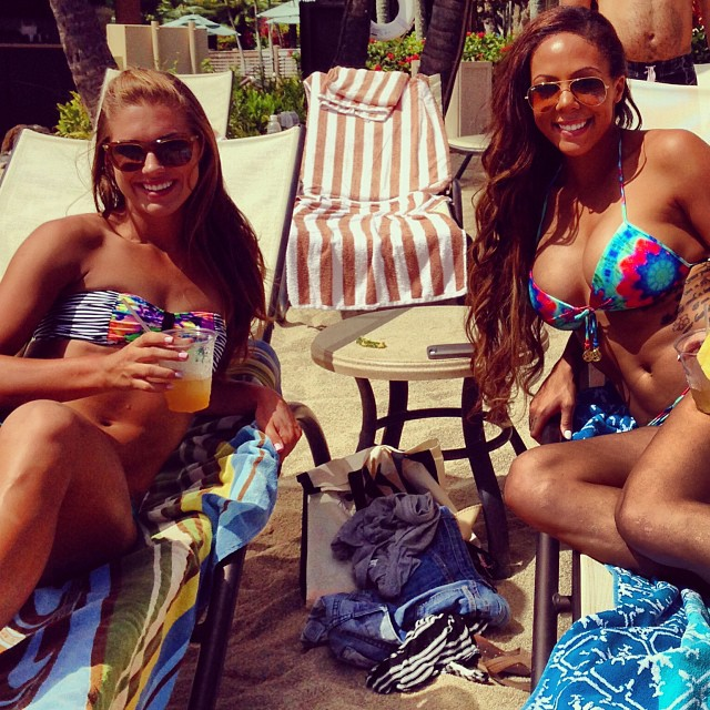 Sydney Leroux and Alex Morgan :: @sydneyleroux