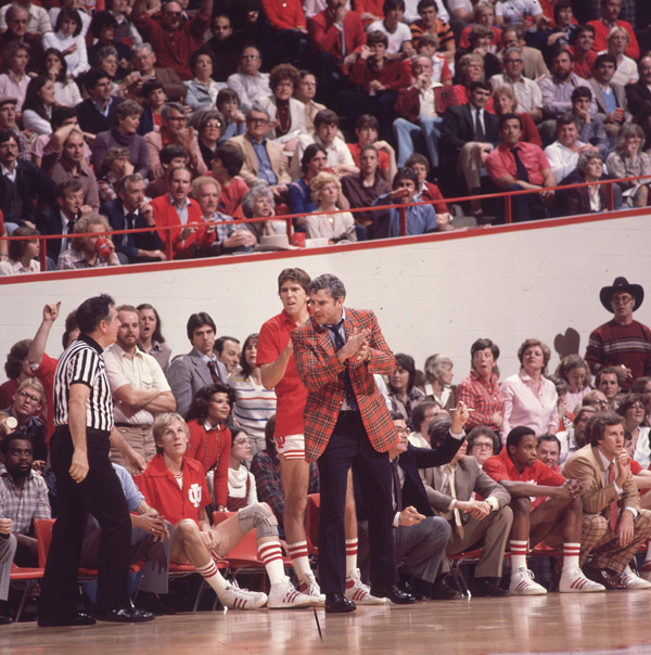 Bobby Knight (pictured here in 1980) turns 73 today. (Heinz Kluetmeier/SI)