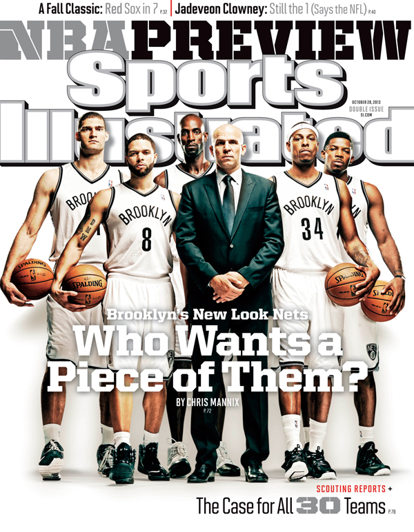 Coach Jason Kidd and the Brooklyn Nets grace one of the regional covers for Sports Illustrated's 2013-14 NBA season preview issue. (Al Tielman/SI)
