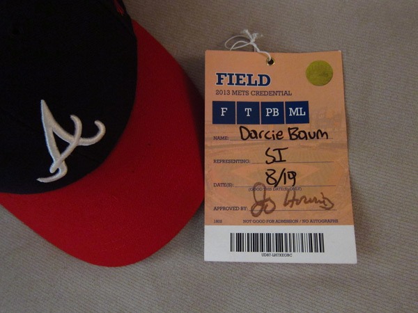 Darcie's field pass  :: Photo by Darcie Baum