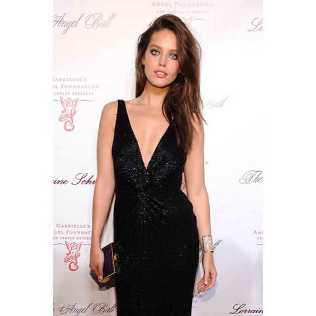 @emilydidonato1: Last night at the #angelball wearing @roberto_cavalli and @jacobandco thank you for the beautiful makeup @tracyalfajora