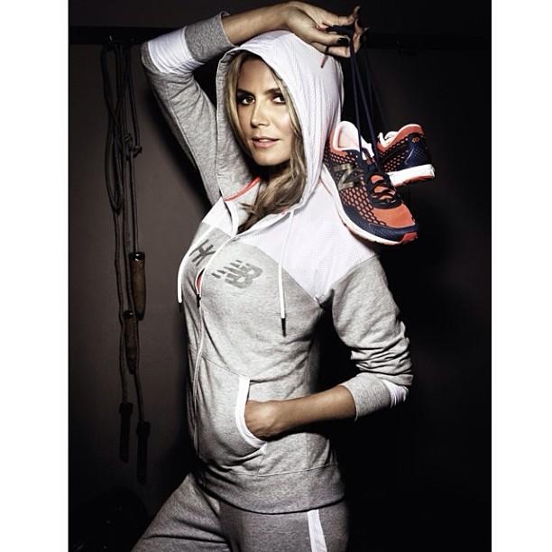 @heidiklum: Kicking it with my new Heidi Klum for @newbalance kicks! #HKNB