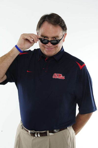 Today is National Nut Day. Here's the closest thing we have in sports -- former Ole Miss coach Houston Nutt. (Bill Frakes/SI)