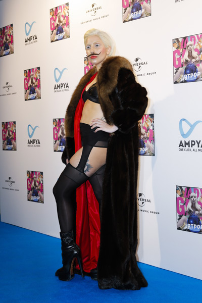 Lady Gaga wore this to a fan event in Berlin, Germany on Thursday. (AP)