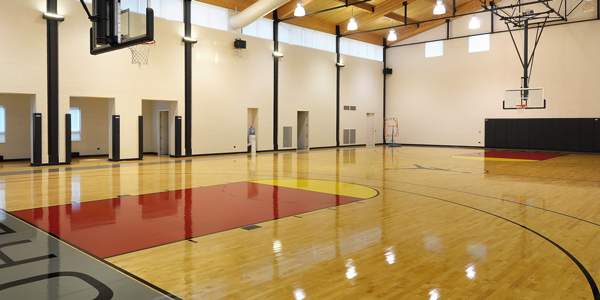 The basketball court in Michael Jordan's Chicago-area estate. (ConciergeAuctions.com)