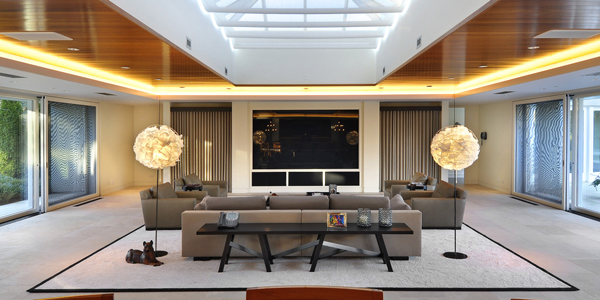 An interior shot inside Michael Jordan's Chicago-area estate. (ConciergeAuctions.com)
