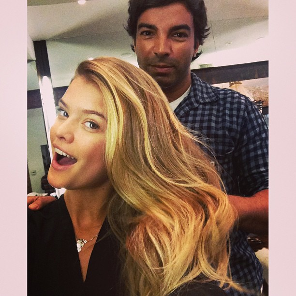 @ninaagdal: Theres highlights... And then theres @harryjoshhair highlights. Obsessed w the golden locks thank you babes