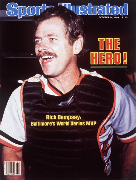 Thirty years ago today, Orioles catcher Rick Dempsey appeared on the SI Cover. (Ronald C. Modra/SI)