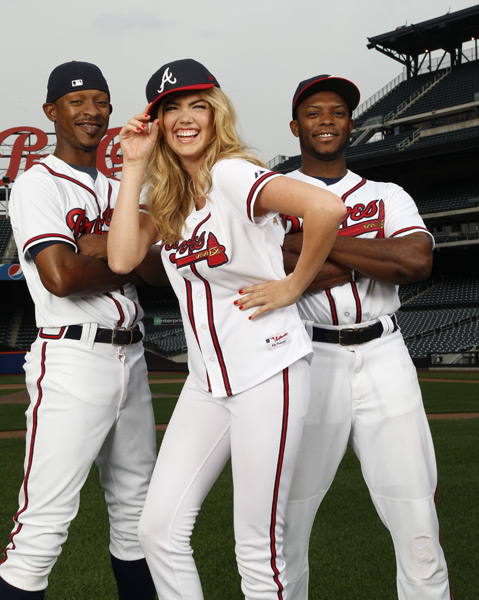 Kate Upton, BJ Upton and Justin Upton :: Walter Iooss Jr./SI