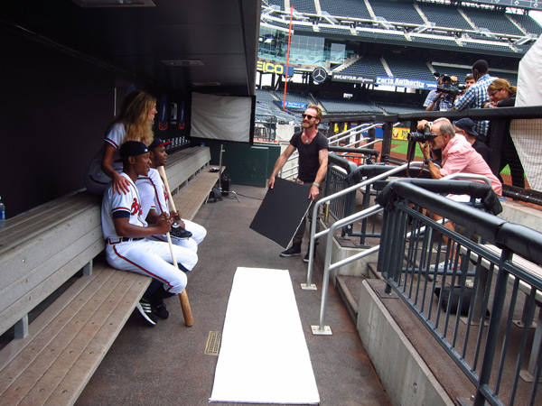 Kate Upton, BJ Upton,  Justin Upton, Peter Butler and Walter Iooss Jr. :: Darcie Baum/SI