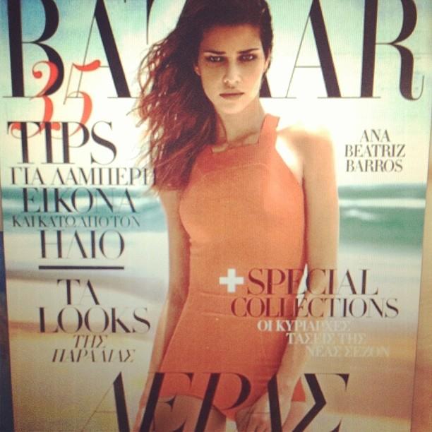 @anabbofficial: Minha nova capa #greekhapersbazaar . My new cover #hapersbazaar #greece #grecia #amo #thanks #obrigada #bazaar