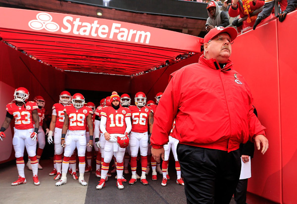 Andy Reid and Kansas City Chiefs ::  Jamie Squire/Getty Images