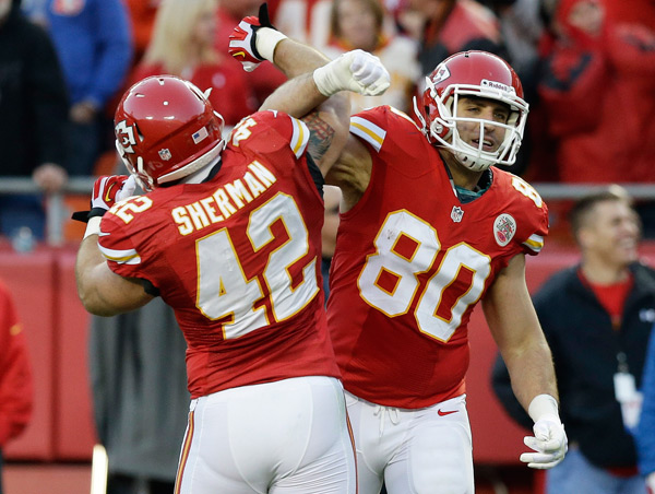 Anthony Fasano and Anthony Sherman :: AP