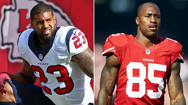 ANYONE INVOLVED WITH FANTEX: Texans running back Arian Foster and 49ers tight end Vernon Davis were both announced in October to be early offerings at Fantex, a company that planned to trade shares in professional athletes based on the player's off-fiel