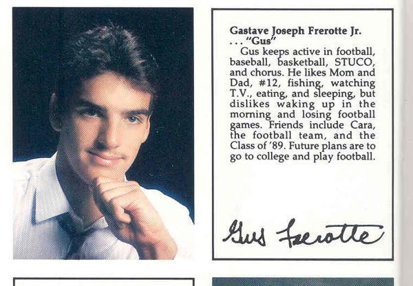 Gus Frerotte, Class of '89, Ford City High School (Ford City, Penn.)