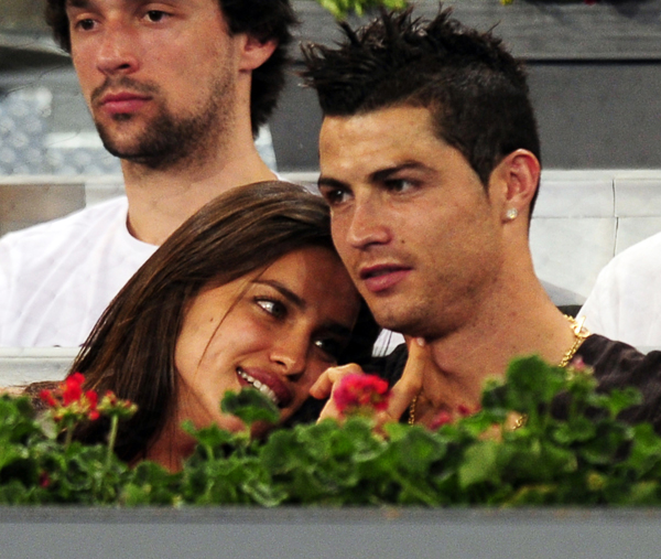 Irina and boyfriend, Cristiano Ronaldo  ::  Javier Soriano/ AFP/Getty Images