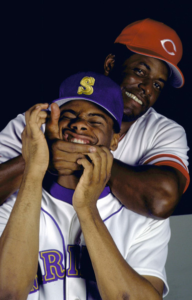Ken Griffey Sr. and Ken Griffey Jr. (1989) :: Ronald C. Modra/SI