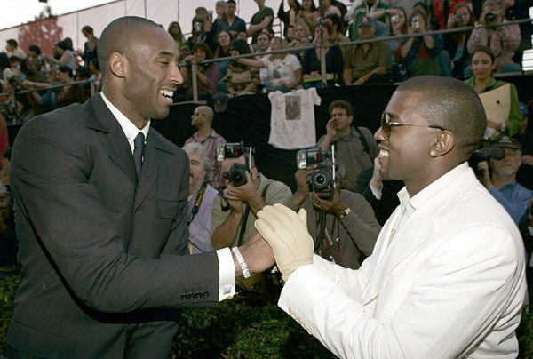Kobe Bryant and Kanye West at the American Music Awards (2004) :: KMazur/Wireimage