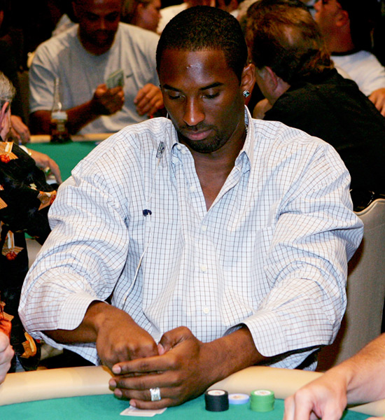 Kobe Bryant plays poker at The Mirage in Las Vegas (2005) :: Ethan Miller/Getty Images