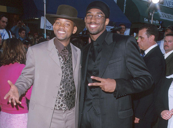 "Will Smith and Kobe Bryant at ""Wild Wild West"" premiere (1999) :: SGranitz/WireImage)"