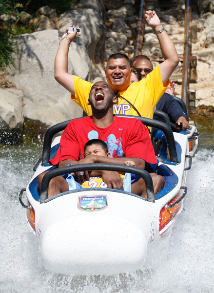 Kobe Bryant at Disneyland (2009) :: Scott Brinegar/Disney via Getty Images