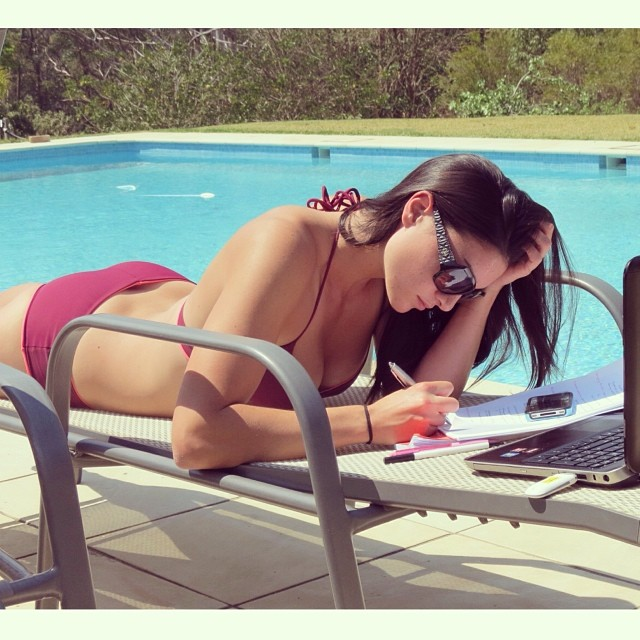 @mjenneke93: Exam study is a lot better when the sun is out #sun #pool #spring #study