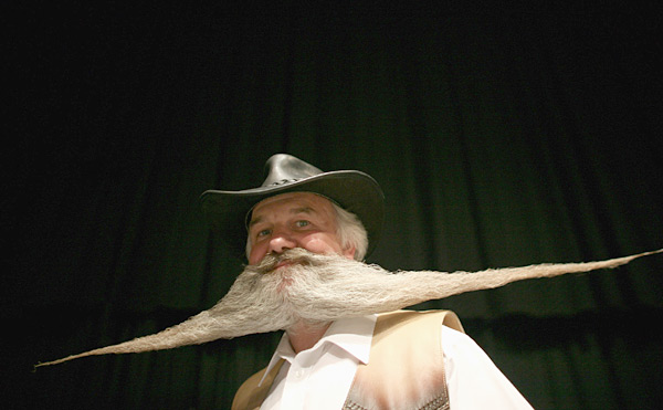 Competitor at the 2007 World Beard and Moustache Championships :: Daniel Berehulak/Getty Images